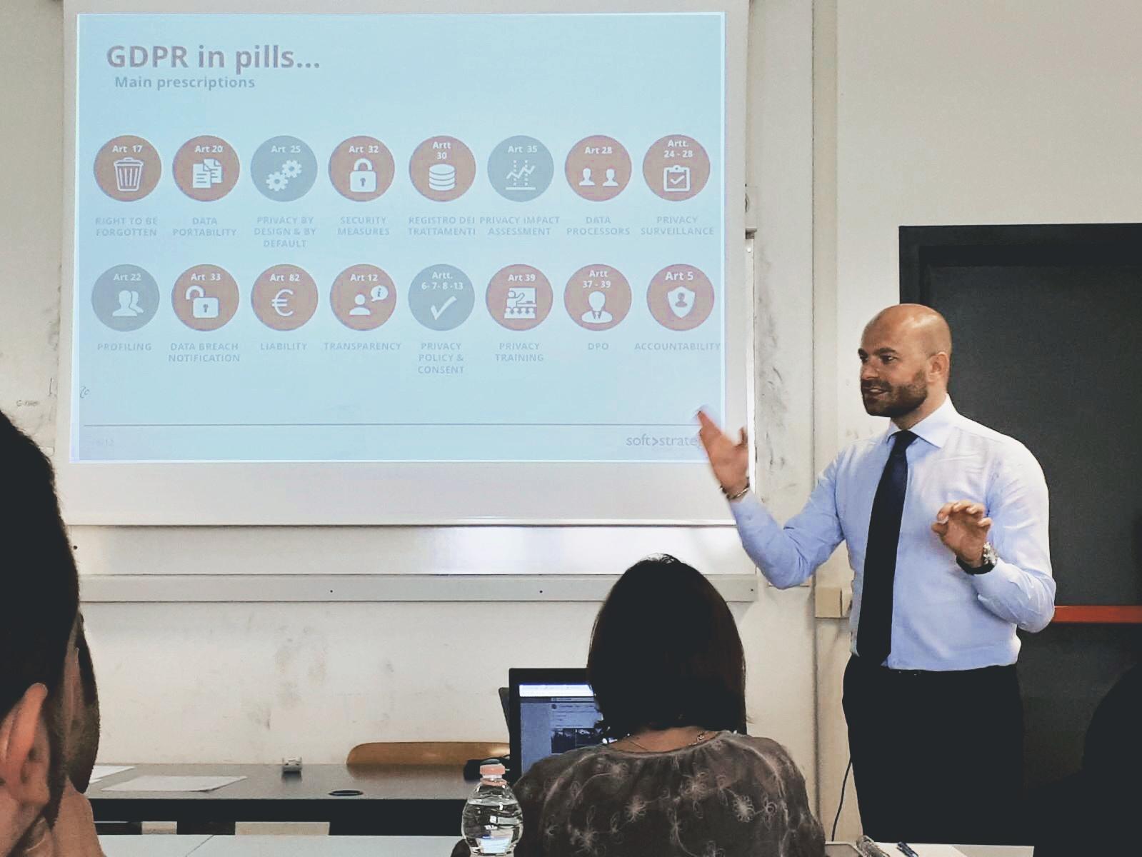 Privacy, Big Data e GDPR: docenza Soft Strategy al Master CESMA